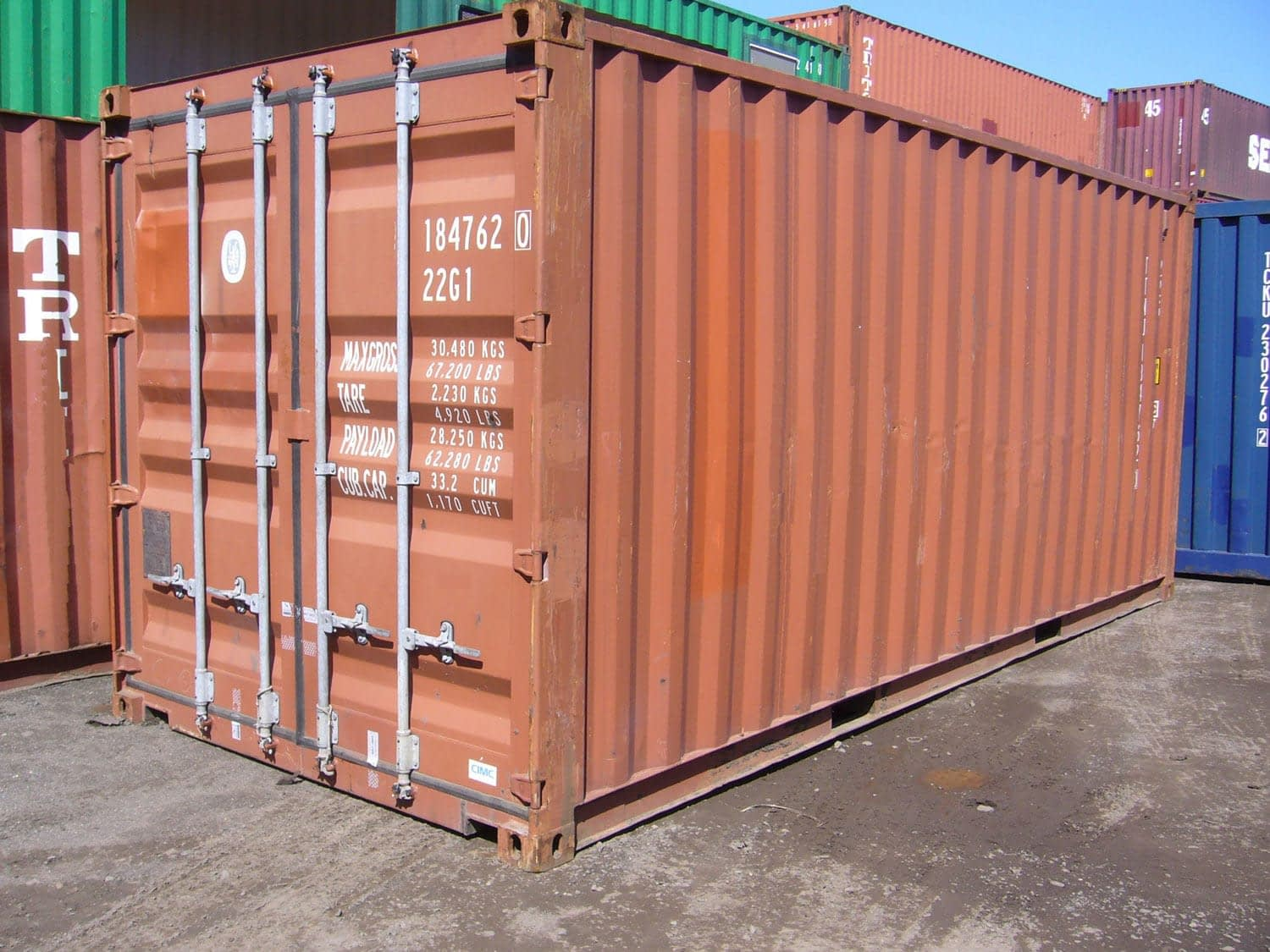 TRS Containers Grade A cargo container for export or ground storage