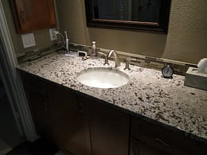 Countertops and back splashes bathroom