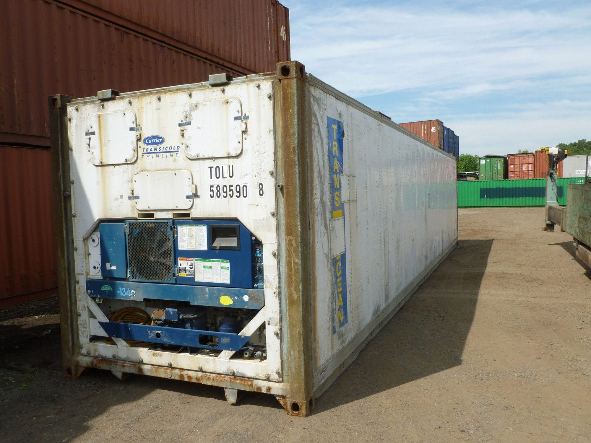TRS stocks new and used 40ft refrigeration containers