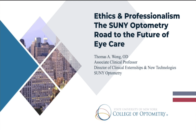 Ethics & Professionalism: Road to the Future of Eye Care