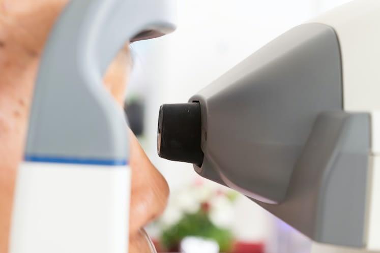 Measurement of eye pressure Eye examination