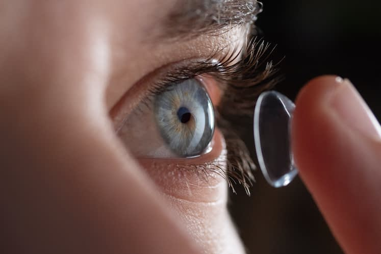 Therapeutic contact lens use yields improved vision in patients with TED