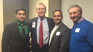 (L to R) Raj Patel, Northwestern College Radiologic Technology Instructor/Clinical Coordinator; Advocate Lutheran General Hospital President Richard Floyd; and Northwestern College's COO Dimitrios Kriaras and President, Lawrence Schumacher.