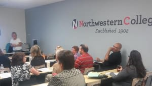 Northwestern College's Bridgeview Campus recently hosted 2 ISAC training workshops for financial aid professionals from around the state, both of which were extremely well attended.