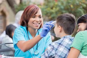 Nurse helps treat kid health