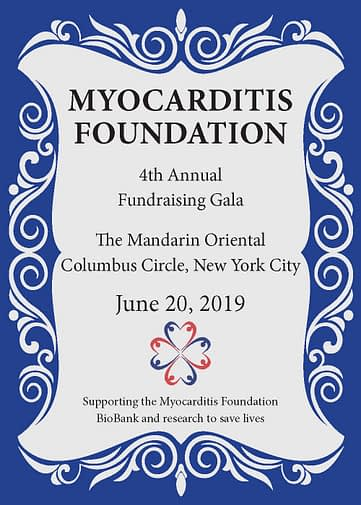 4th Annual Myocarditis Foundation Fundraising Gala June 20th 2019