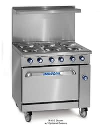 """Imperial - 36"""" Range with 6 Round Solid Burners-Electric"""