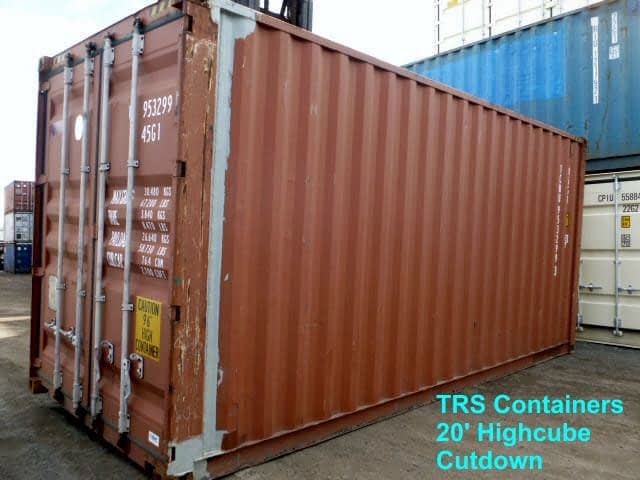Fabricated used 20ft L X 9'6' H TRS Containers