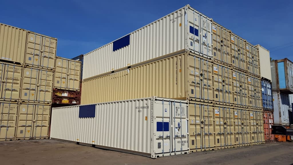 TRS inventory includes new 40 foot long new standard height containers with fork pockets and lockboxes