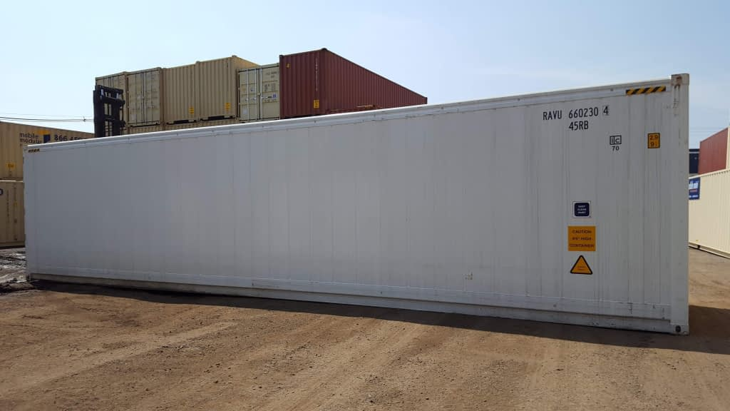TRS Containers new running reefers are 40 feet long X 9'6' H