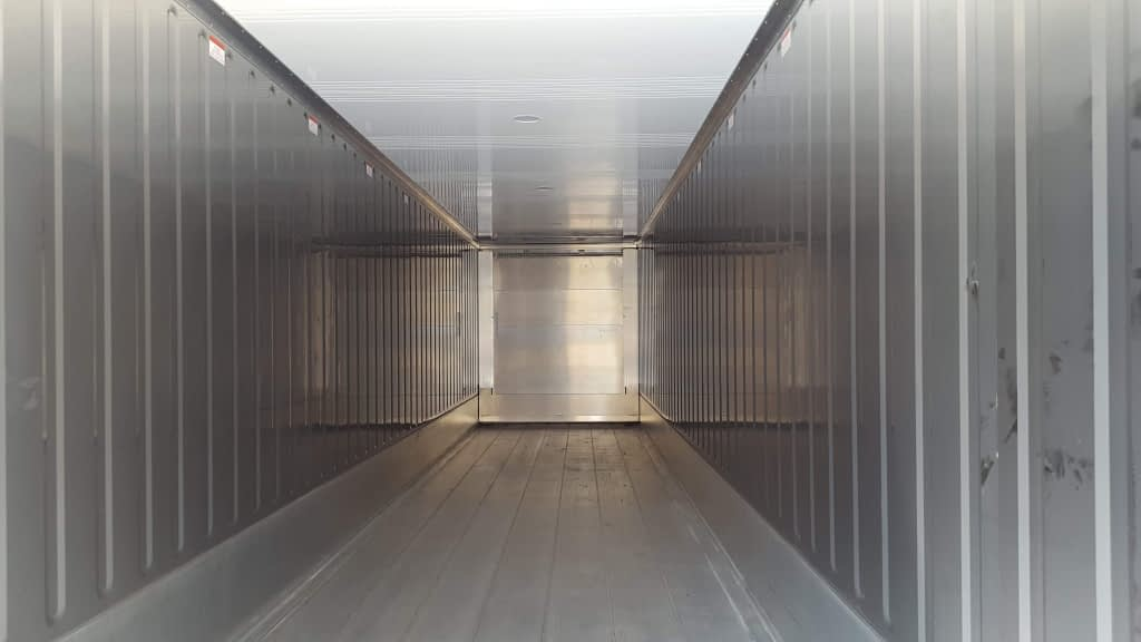 TRS 40ft highcube reefers have stainless interiors