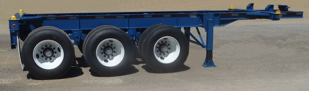 TRS full service chassis depot offers 20 foot long tri-axle chassis for extra heavy loads
