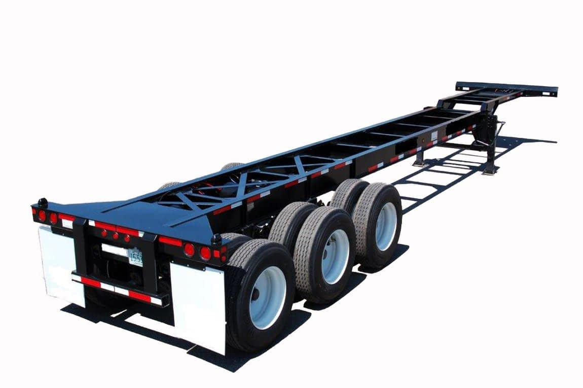TRS Containers can source new 40 foot long tri-axle chassis