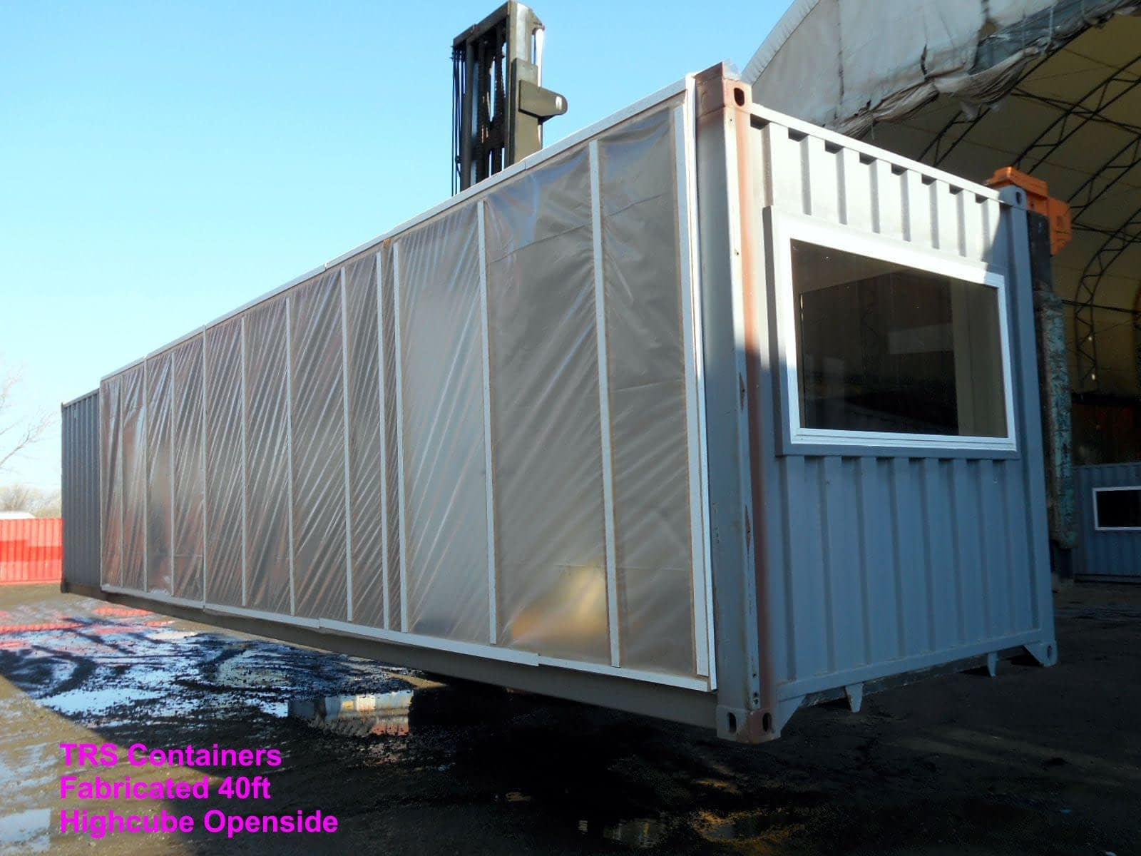 TRS Containsr performs fabrication work to convert 20 ft and 40 ft long containers into multi-functional structures