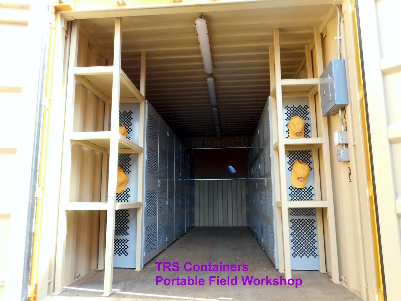 TRS custom 20ft long portable workshop
