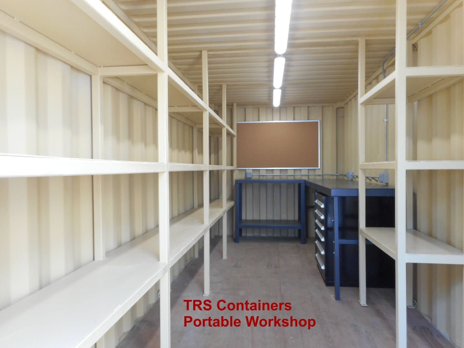Container modifications built to last and travel from site to site.