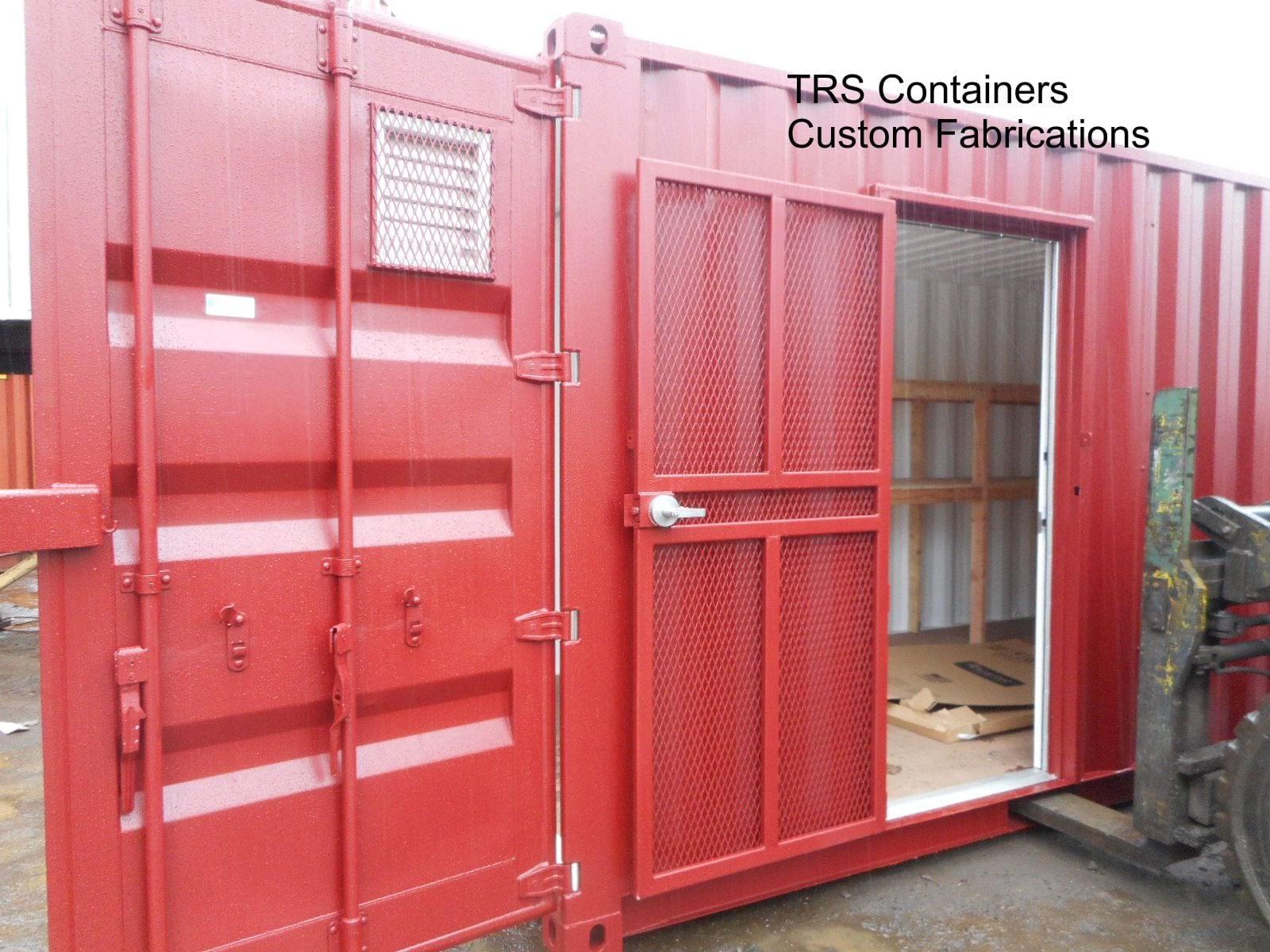 Highly secure steel expanded metal man door