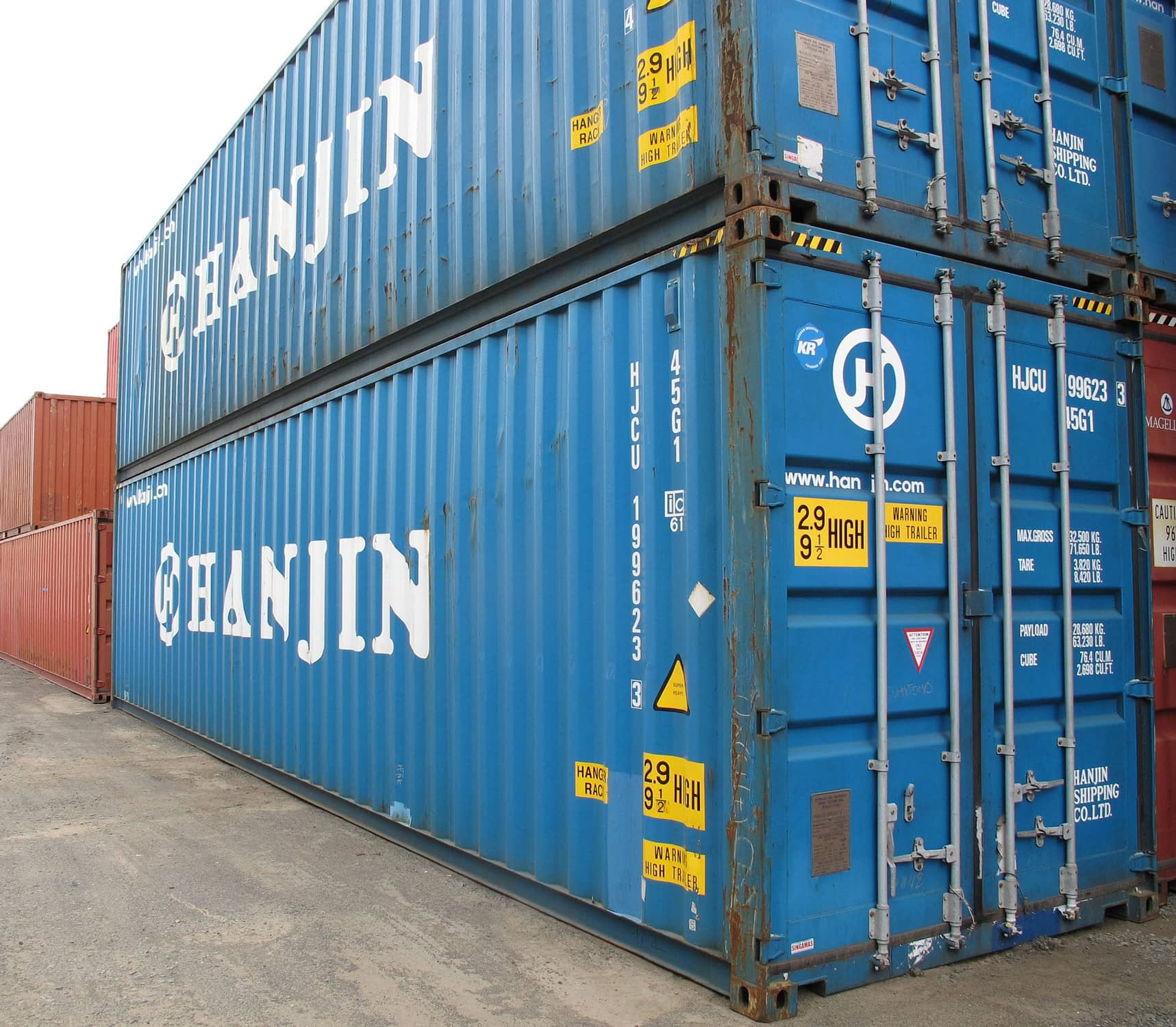 TRS stocks new and used 40ft long highcube shipping storage containers