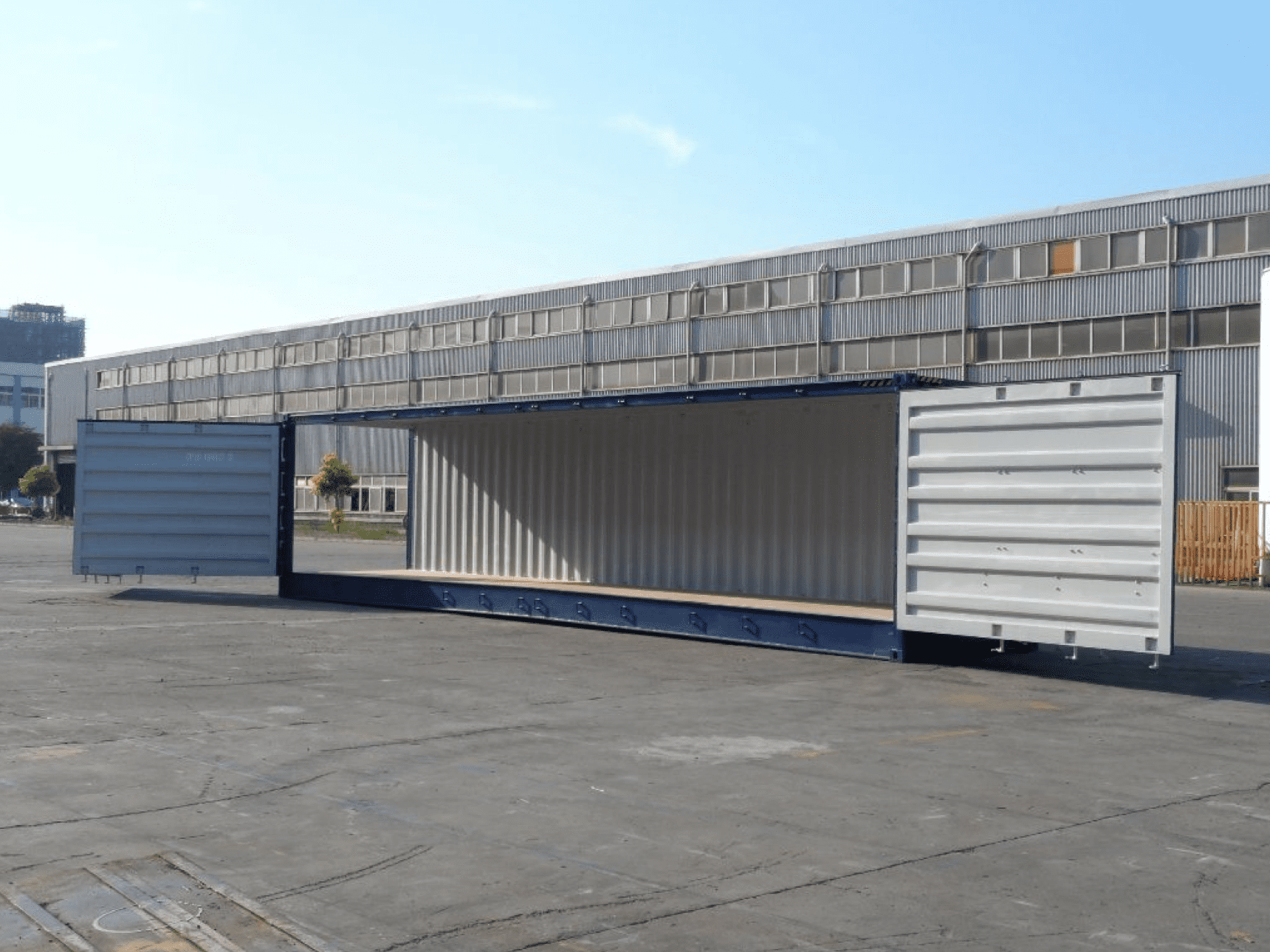 TRS Containers diversified inventory includes new 20ft and 40ft long Openside containers