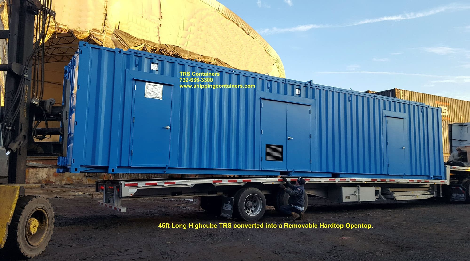 BioGas System housed in a 45ft Long Modified TRS Container