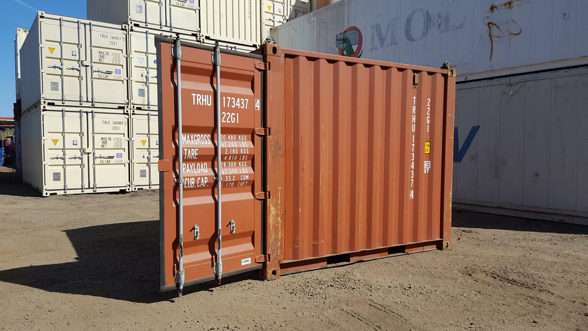 TRS Containers fabricates 10 foot long X 8'6' H steel containers with or without fork pockets