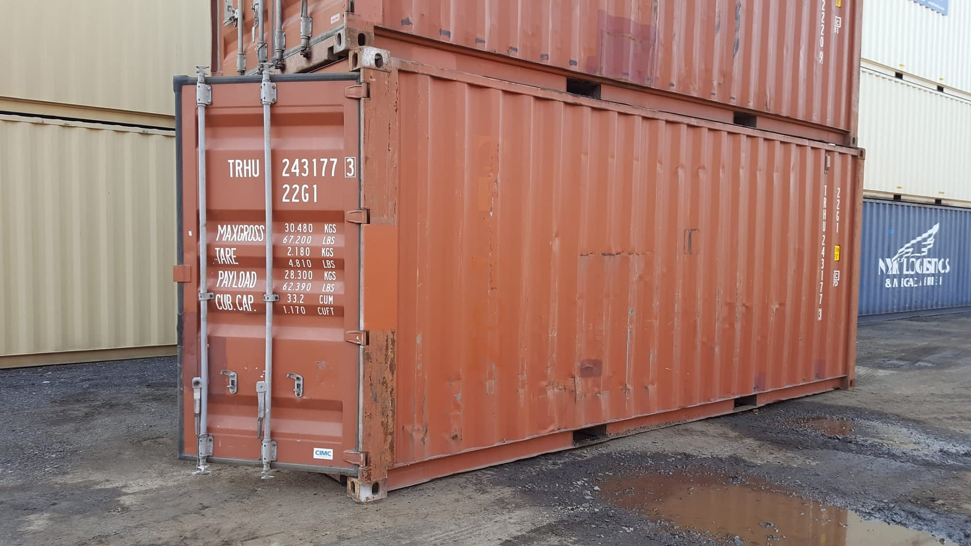 TRS Containers Grade C container, cheap watertight functional 20ft long storage
