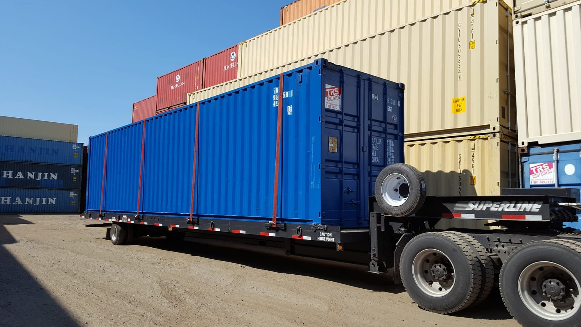 Used 40ft highcube TRS will deliver on a roll off truck