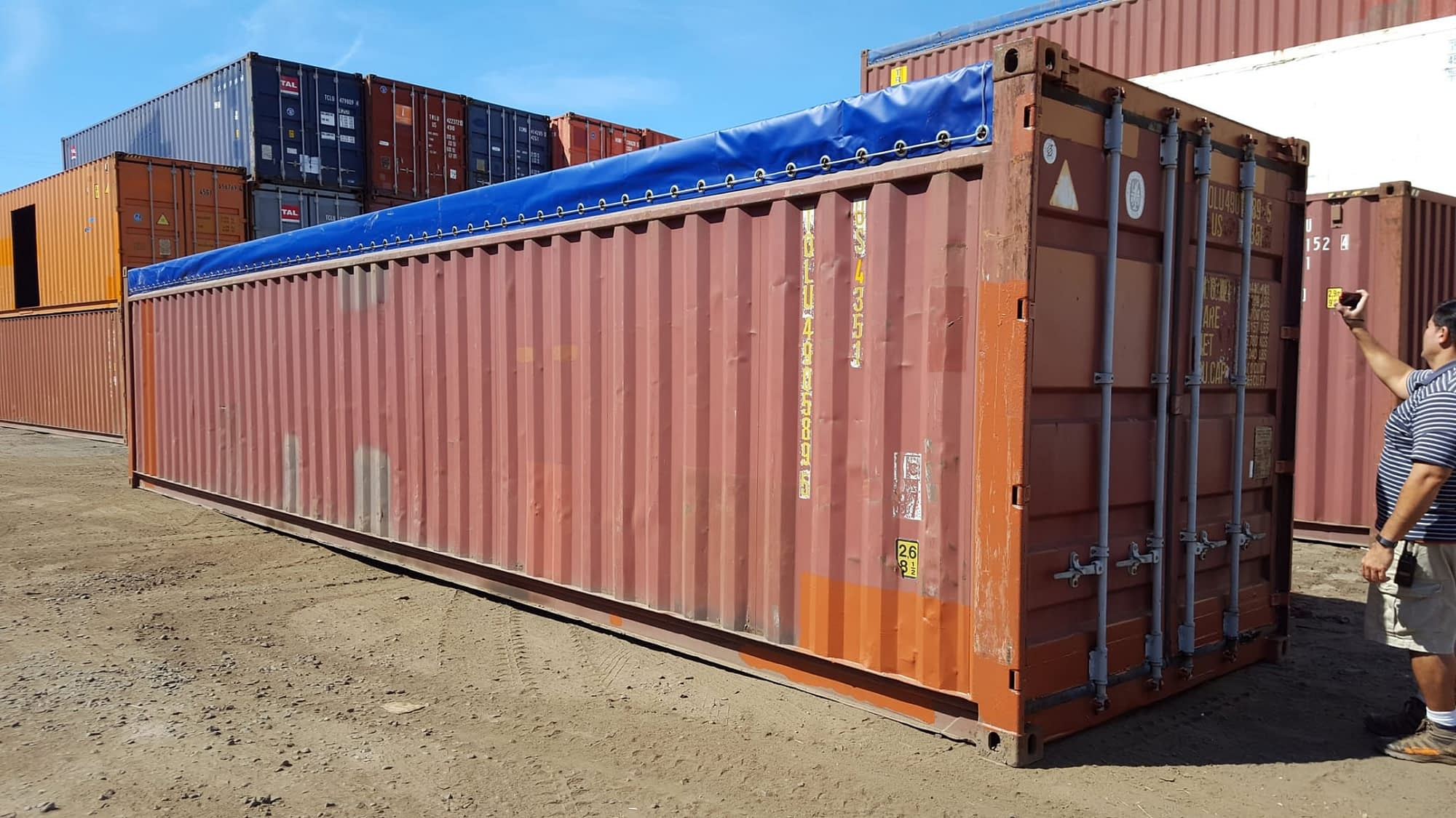 TRS provides sound watertight 20ft and 40ft long opentop containers