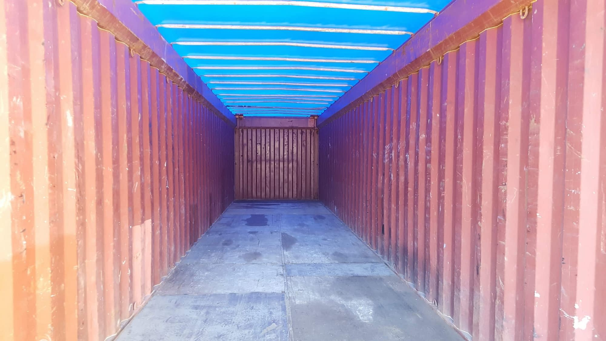 TRS can provide sea worthy 40ft canvas opentop containers