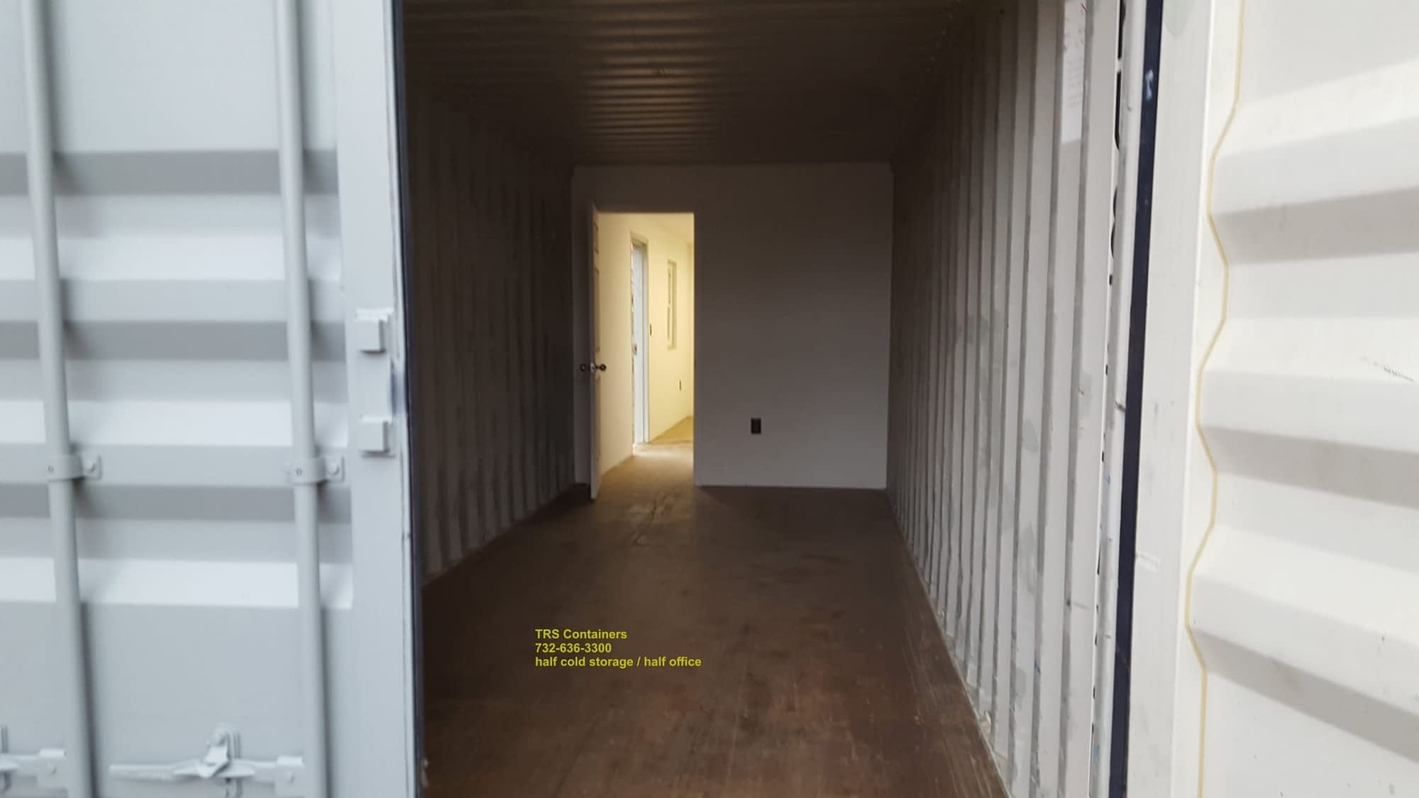 TRS sells and rents half office and half cold storage steel container space