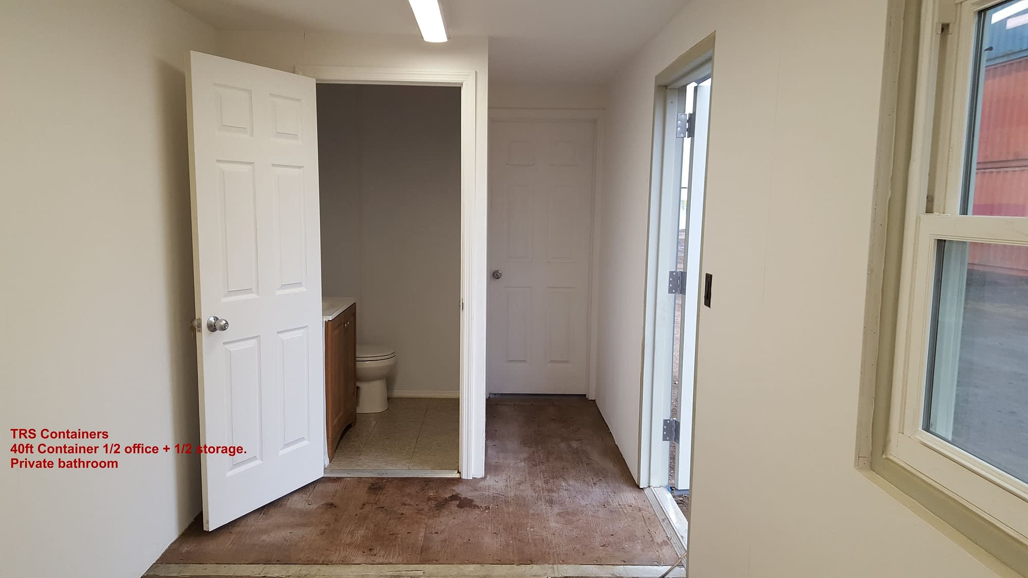 TRS offers 1/2 office + 1/2 cold storage with bathroom