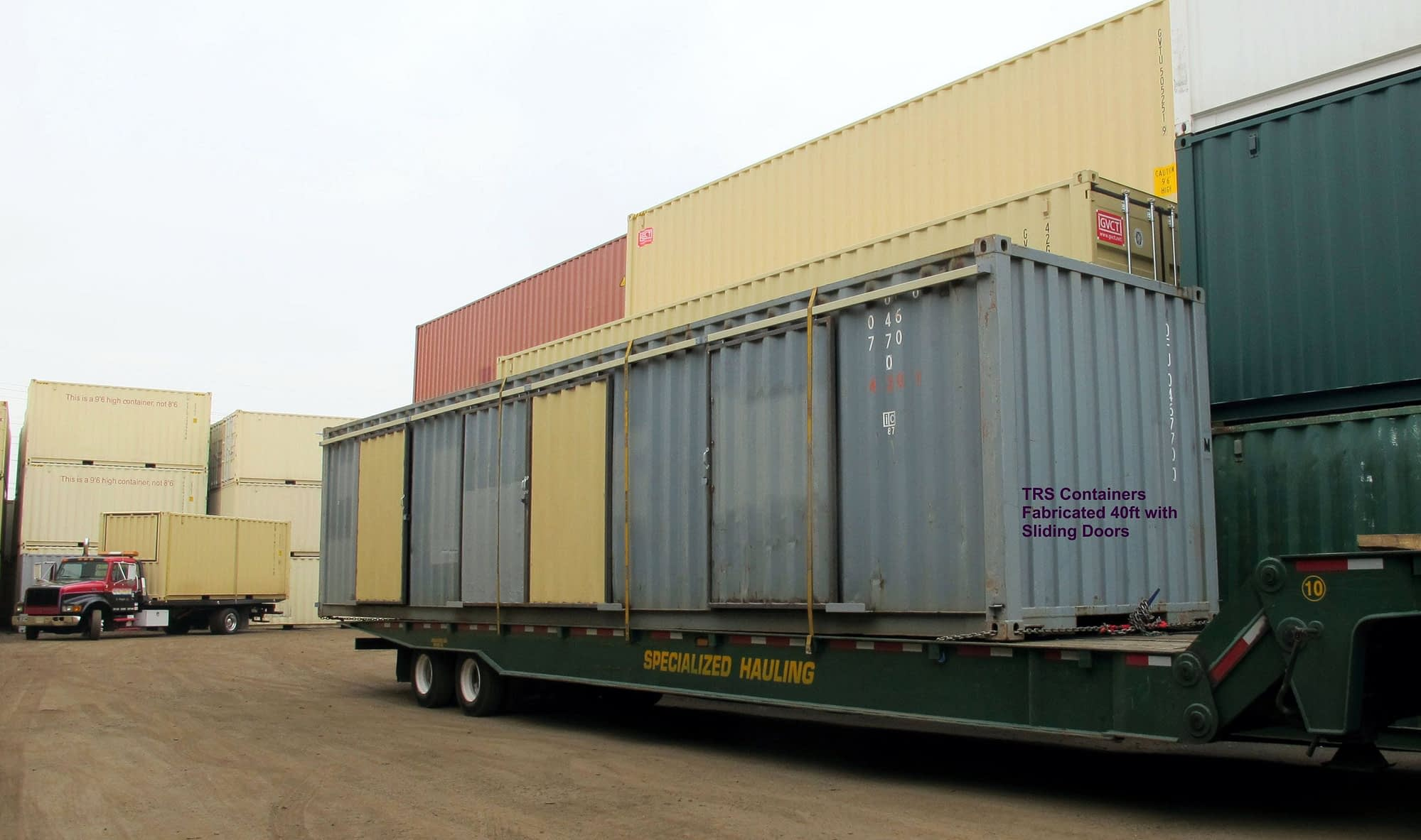 TRS Containers modifies 20ft, 40ft and 45ft long steel containers into alternative containr structures