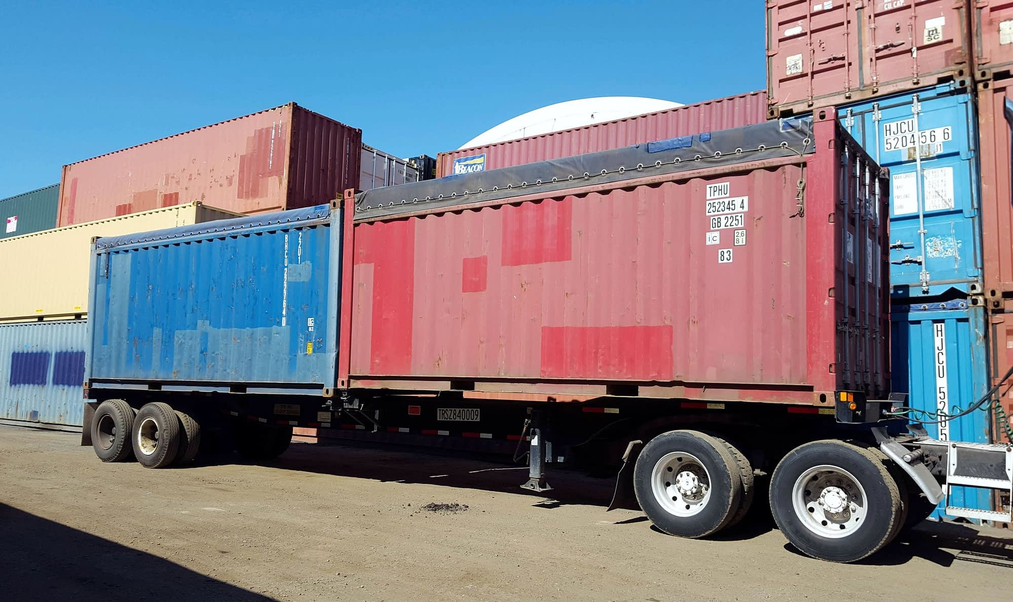 TRS sells opentop shipping containers for domestic use or export