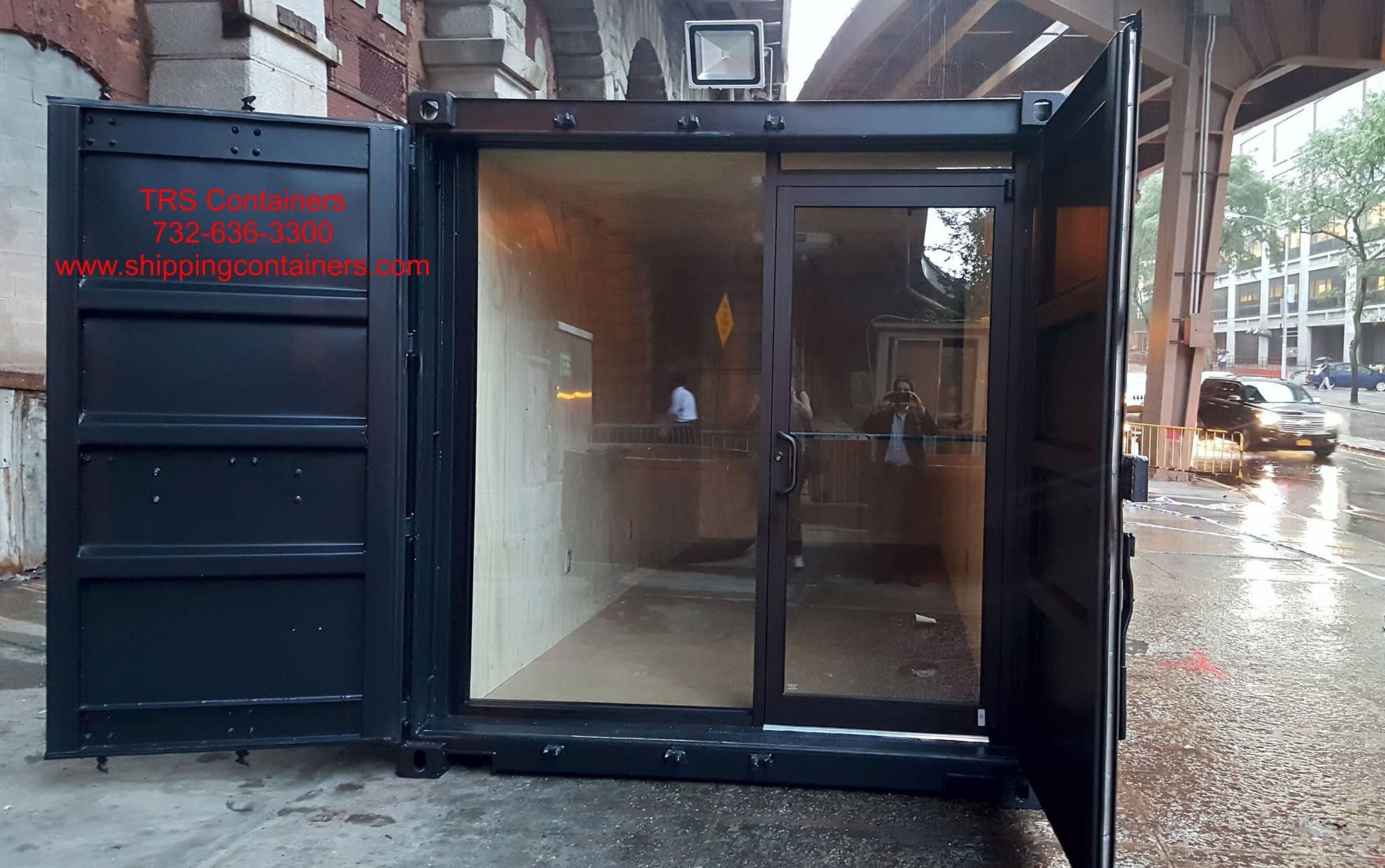 TRS Containers fabricates container coffee shops and cafe's. 10ft long or 20ft long with popup windows or locking doors