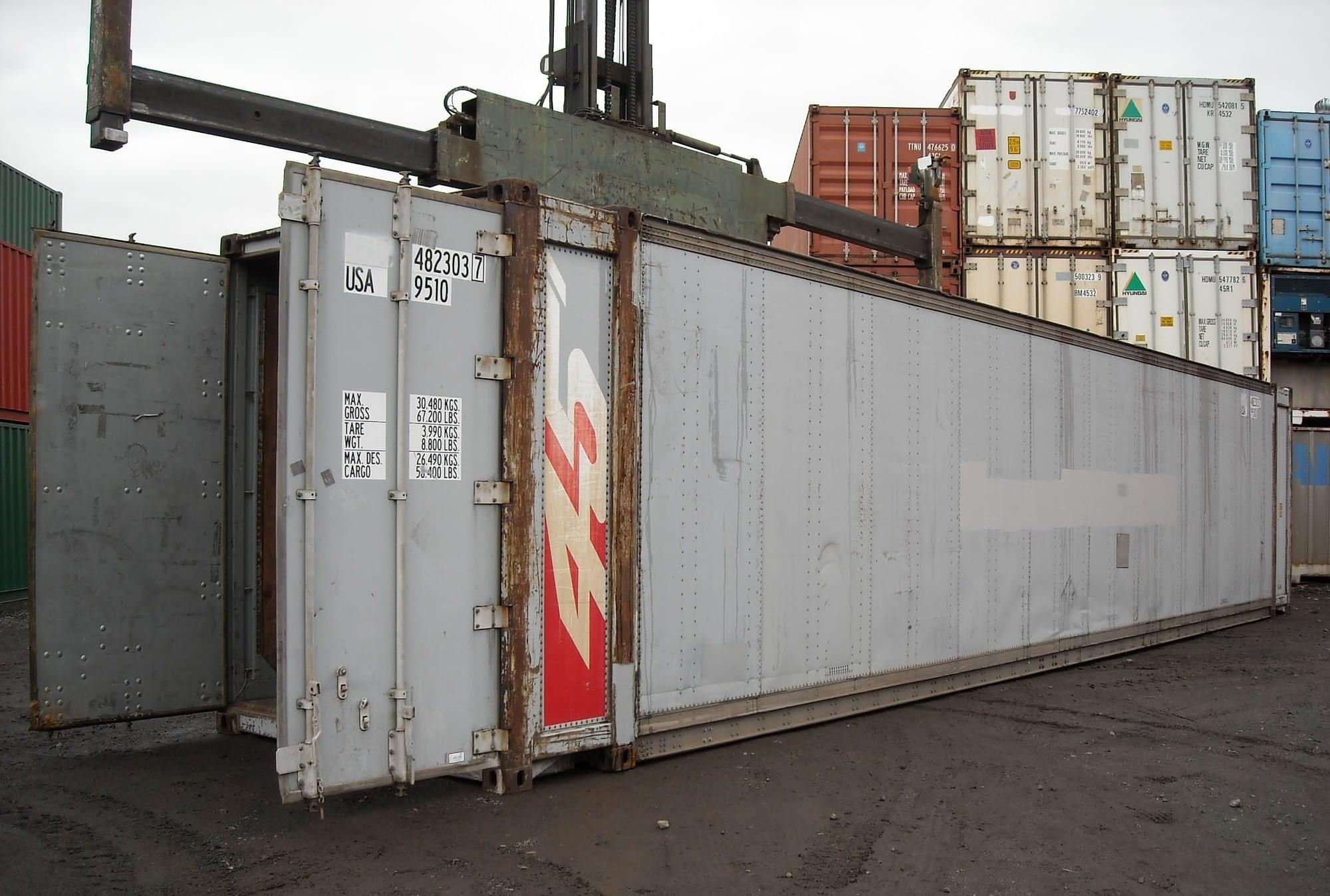 45ft long highcubes offer the maximum interior storage cube.