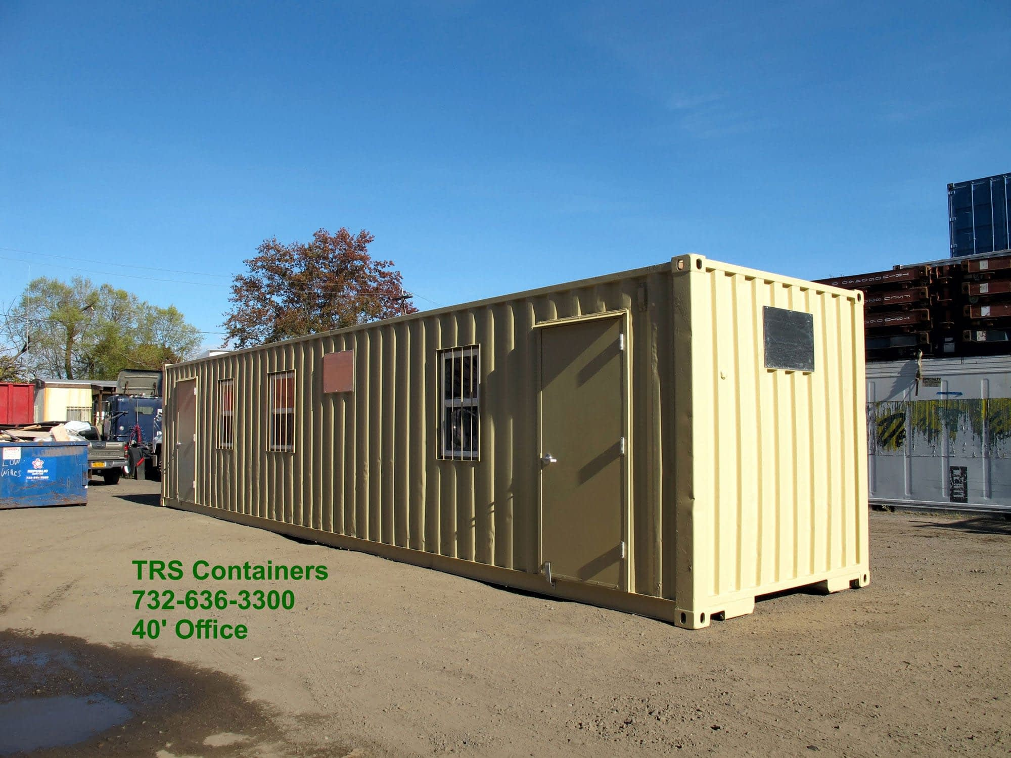 TRS rents and sells modified containers that are basic or meet your specs