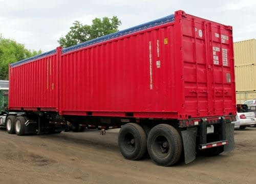 TRS containers offer new canvas tarps for 20 foot long opentops