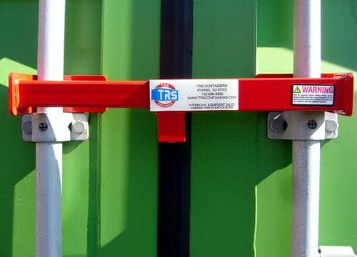 TRS Containers offers lock options to secure your materials at an unguarded jobsite