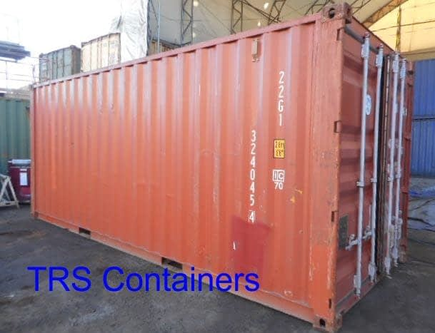 TRS structurally sound watertight lockable container
