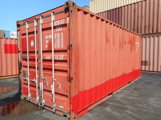 TRS Containers Grade B rated 20 foot long container suitable for export