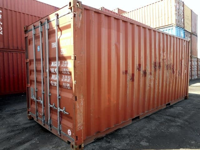 TRS Containers sells and rents watertight lockable corten steel containers