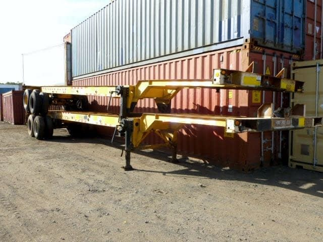 TRS Containers sells and rents 40ft - 45ft long extendable chassis