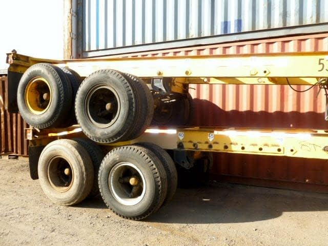 TRS Containers sells and rents used ISO container chassis including 40 - 45ft long extendables