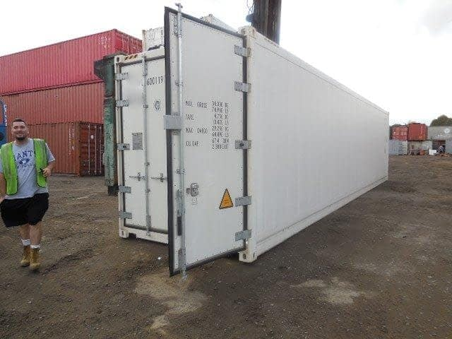 TRS sells running refrigeration containers with smooth aluminum or muffler grade steel exterior panels
