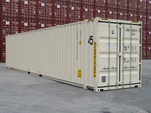TRS Containers suppiles 10ft, 20ft, 40ft and 45ft long steel ISO containers for export and domestic use
