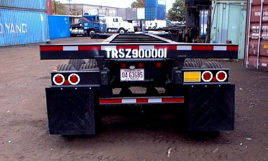 TRS Containers can assist with all chassis needs: sell rent repair register truck