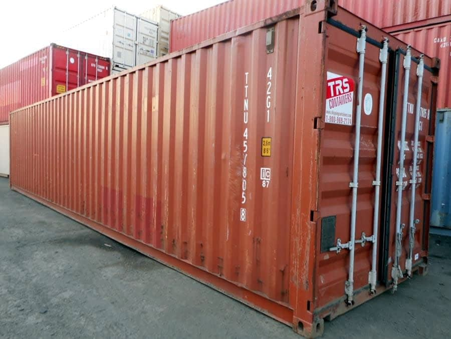 TRS rents 40ft long containers and chassis