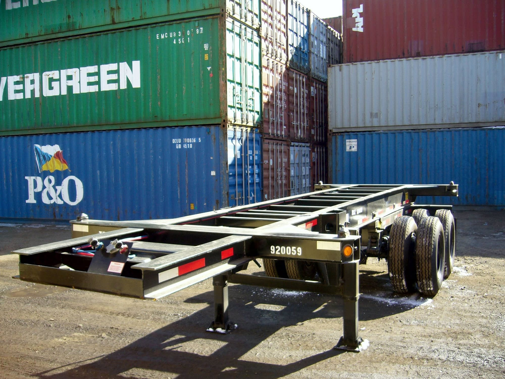 TRS Containers sells and rents 20ft, 40ft and 40 - 45ft extendable chassis