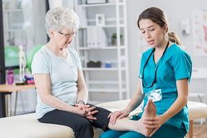 woman receiving treatment