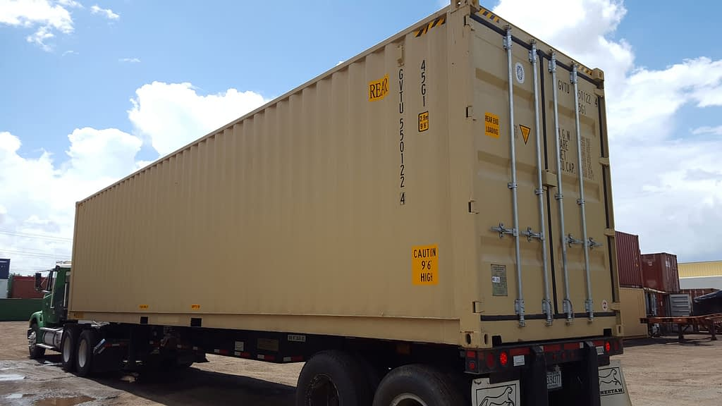 TRS Containers can fabricate a used double door shipping storage container by installing additional doors